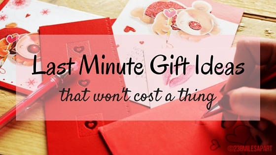 Last Minute Gift Ideas (Valentine's Day)